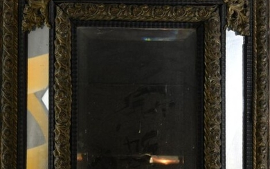 *Louis XIV style mirror, spandrels and brass frame.