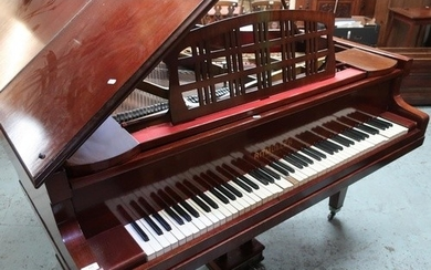 Mahogany cased overstrung baby grand piano by Ritmuller