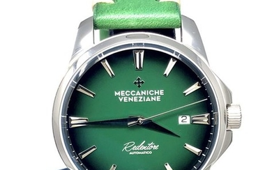 "Meccaniche Veneziane -Redentore Smeraldo Green with Hand Made Italian Leather Strap ""NO RESERVE PRICE"" - 1201004 ""NO RESERVE PRICE"" - Men - BRAND NEW"