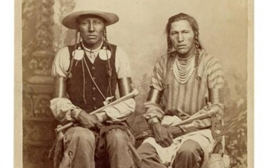 [NATIVE AMERICAN] Cabinet Card Photograph of Spotted