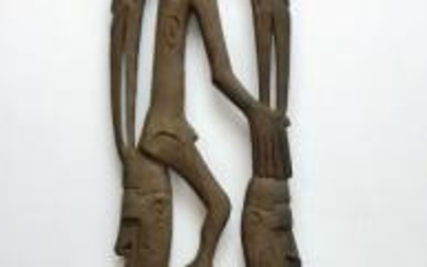New Guinea Native Asmat Ajour Wood Carving