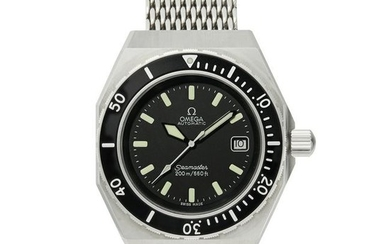 Omega - stainless steel Seamaster SHOM automatic watch.