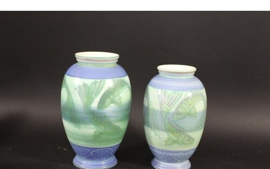 POOLE POTTERY VASES - SALLY TUFFIN 2 Poole Pottery Studio va...