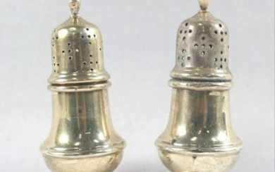 Pair Of Sterling Silver Salt Shakers