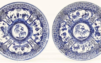 Pair of Chinese 18th Cent. Blue & White Porcelain