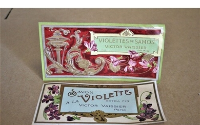 Pair of Vintage and Very Collectable French Soap Labels