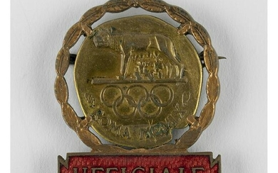 Rome 1960 Summer Olympics Official Badge