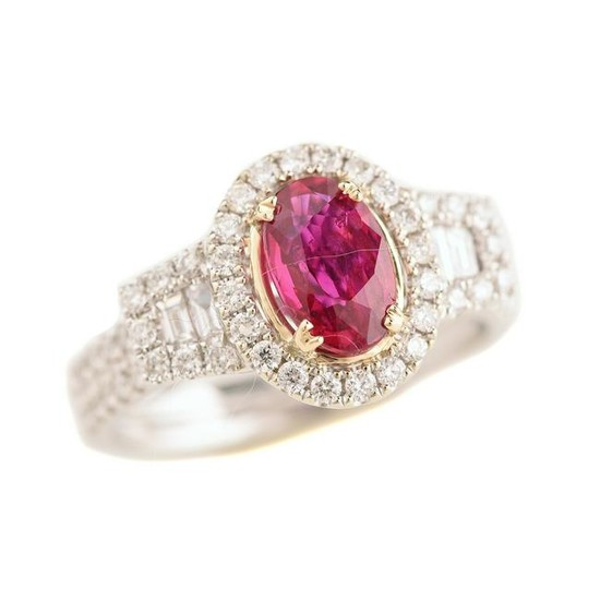 Ruby, Diamond, 14k Gold Ring.