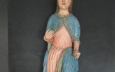 Sculpture, Great Madonna / Saint - 74 cm - Baroque style - Wood - 19th century