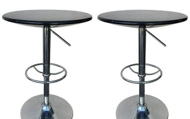 Set of Adjustable Contemporary Modern Cocktail Chrome