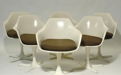 Set of Twelve Burke Tulip Chairs