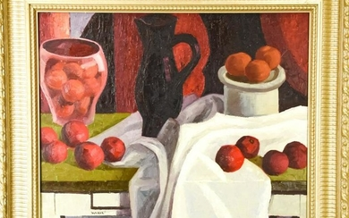 Signed Contemporary Still Life Oil Painting