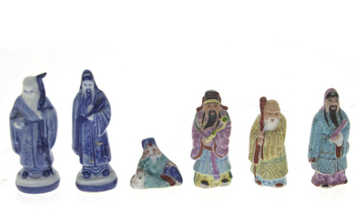 Six Chinese Porcelain Figurines.