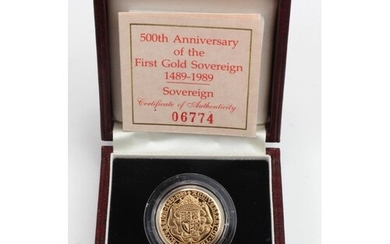 Sovereign 1989 Proof FDC boxed as issued