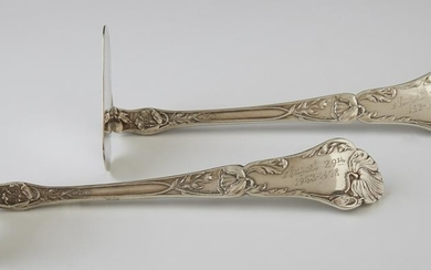 Two Sterling Child's Pushers, c. 1900, by Gorham, the