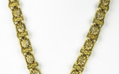 Victorian Gold Book Chain with Cameo Pendant