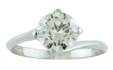 1.43ct Diamond, 18k White Gold, Solitaire Ring