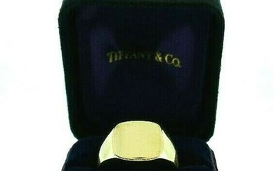 14K Yellow Gold Tiffany and Co Signet Ring Unisex