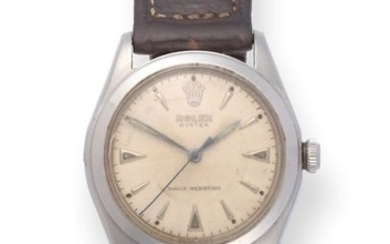 A Stainless Steel Centre Seconds Wristwatch, signed Rolex, Oyster, Shock...