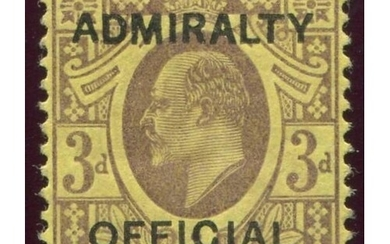 1903 Admiralty 3d dull purple and orange yellow mint, fine a...
