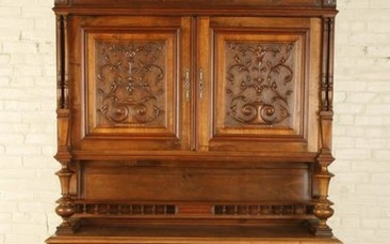 19TH C FRENCH WALNUT RENAISSANCE REVIVAL BUFFET