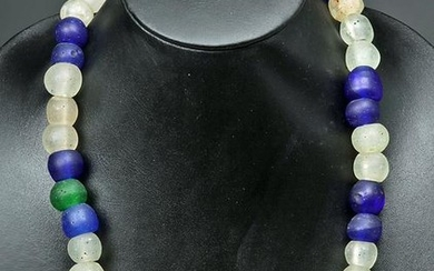 19th C. African Necklace - Old Dutch Trade Glass Beads