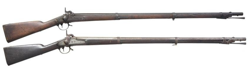 "2 ""AS FOUND"" HARPERS FERRY MODEL 1842 MUSKETS."