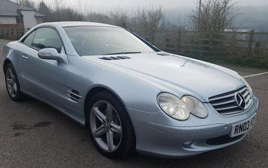 2003 Mercedes-Benz SL350 Automatic Sports Coupé, Registration no. RN03 VZY Chassis no. WDB230467F057658