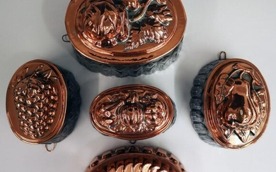 5 Copper Food Molds