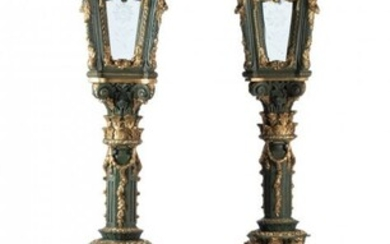 61076: A Pair of Venetian Renaissance-Style Carved, Pai