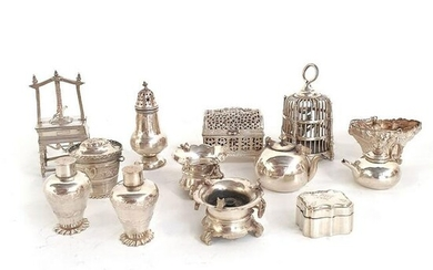 A COLLECTION OF CONTINENTAL SILVER MINIATURES