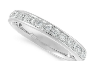 A DIAMOND ETERNITY RING in 18ct white gold, designed as
