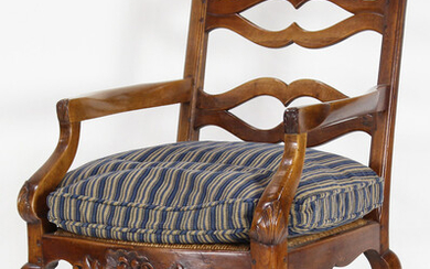 A French Provincial armchair