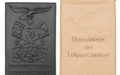 A GERMAN WWII LUFTWAFFE HONOR PLAQUE