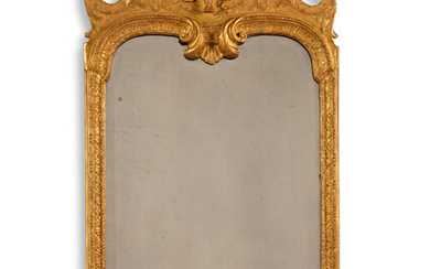 A QUEEN ANNE GILT-GESSO PIER MIRROR