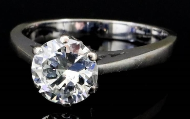A Solitaire Diamond Ring, Modern, in 18ct white gold...