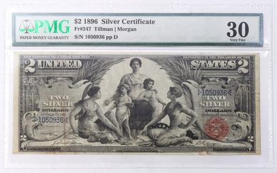 A United States $2 1896 Silver Certificate Educational Note