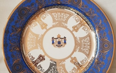A Very Rare Royal Worcester Sikh Antique Plate