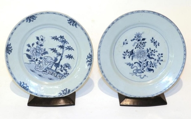 A pair of Qianlong blue and white porcelain plates and...