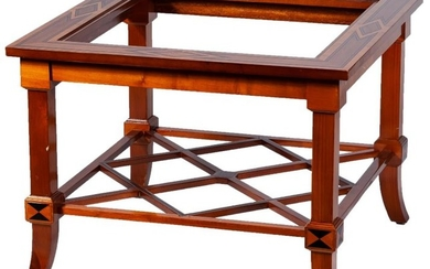 "A pair of ""treillage"" mahogany side tables"