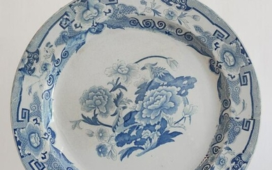 Antique Masons Blue & White Ironstone Charger