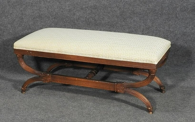 CARVED WINDOW BENCH