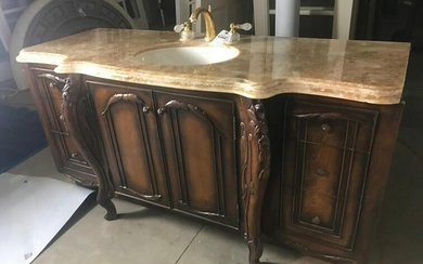 Carved Mahogany Vanity
