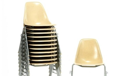 Charles and Ray Eames, Set of Twelve DSS Chairs
