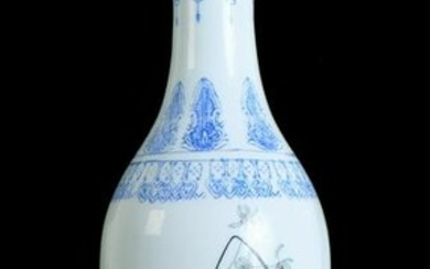 Chinese Porcelain Liuyeping Vase, Signed