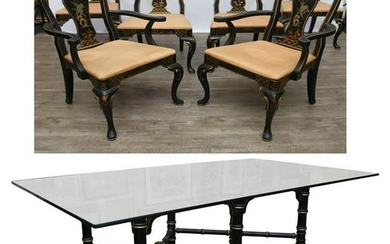 Chinoiserie Dining Table and Chairs