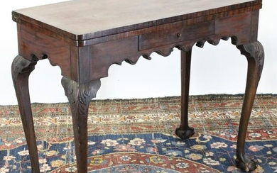 Chippendale Style Mahogany Card Table, 19/20 C.