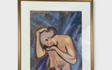 Cubist Painting, Weeping Female Nude, William J. Sewell