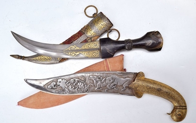 Dagger, probably Morocco, 19. century, blade with...