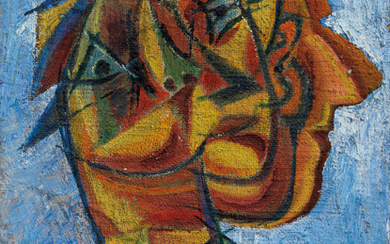 David Burliuk (1882-1967), Futuristic head